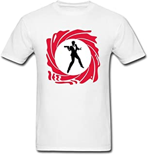 ZZCZHU Silhouette Of Secret Agent T Shirt For Men