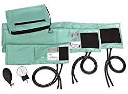 top 10 child bp cuff Prestige Medical 3-in-1 Aneroid Blood Pressure Monitor Kit, with Carrying Case, AQUA SEA