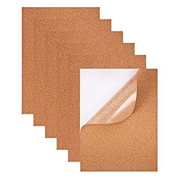 BENECREAT 8 Pack 8.3  x 11.8  Self-Adhesive A4 Cork Sheets 1mm Thick  Rectangle Insulation Cork Backing Sheets for Coaster Wall decoration Party and DIY Crafts Supplies
