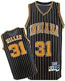 BPZ NBA Jersey Reggie Miller # 31 Indiana Pacers Men's Clásica Jersey, cómodo/Ligero/Transpirable All-Star Unisex Uniform Uniforme,5,XL(180~185CM/85~95KG)