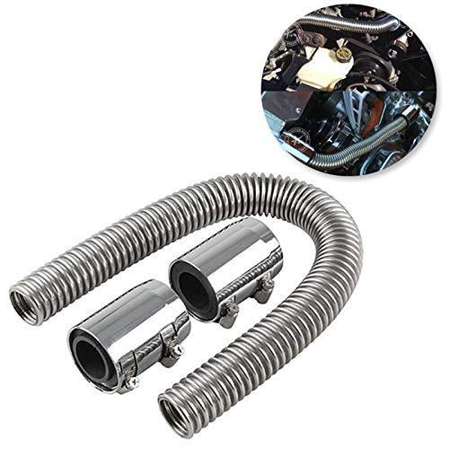Kit de tuyau flexible d'eau de refroidissement pour radiateur en acier inoxydable de 24\