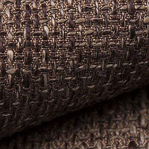 NOVELY® LANZ Premium Möbelstoff | Schwerer Webcharakter | grob gewebter Polsterstoff | Meterware | Struktur-Stoff | 15 Farben (04 Braun)