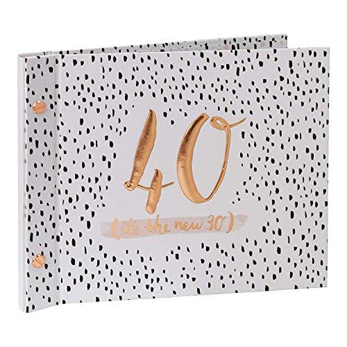 Hotchpotch Luxus-Gästebuch zum 40. Geburtstag, mit Fotoalbum, Pink