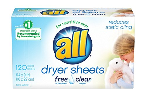 120 CT all Fabric Softener Dryer Sheets for Sensitive Skin Pack $3.97 (61% Off)