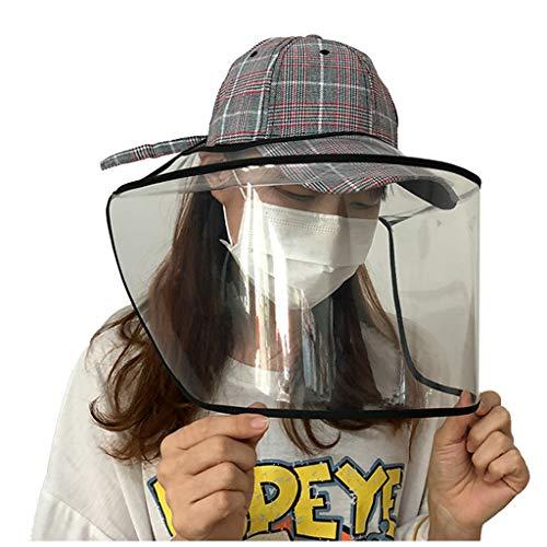 Baseball Caps Sonnenhut Damen Sommerhut Anti Saliva Gesichtsschutz, Anti-Staub und Anti-Allergie-Transparent Schutzhelm