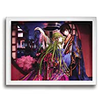 フォトフレーム アートフレーム フレーム コードギアス 反逆のルルーシュ アートパネル 壁掛け インテリア 装飾 枠付き ポスター パネル 30*40 ポスターフレーム 飾り絵 現代壁の絵 壁掛け 部屋飾り