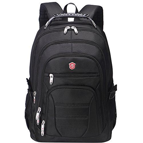 Aoking Men Big Lightweight Backpack Adult Cool Laptop Computer Backpack Rucksack with Massage Straps