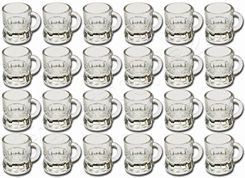 Diverse 24 x Pinneken Schnapsgläser Schnapsglas Glas 4 cl Trinkglas Schnapskrug Humpen