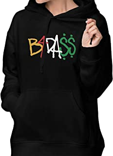 NANCYAA Pop Joey Badass B4dass Logo Hoodie for Women Cotton Hooded Sweatshirts with Pockets Hoody Black
