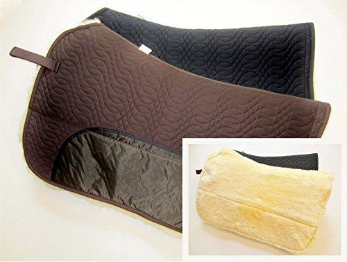PS Pferdeartikel Westernpad, Sattelunterlage mit Lammfell -Spezial- Square Skirt Farbe schwarz