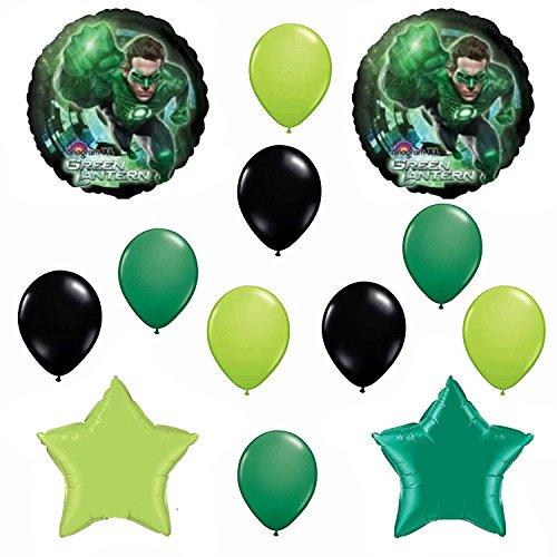 Green Lantern Party Birthday Balloon Decoration Set