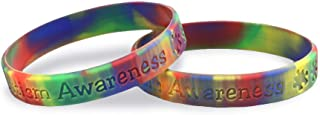 Fundraising For A Cause 2 Pack Autism Awareness Silicone Bracelets (2 Adult Size Bracelets in a Bag)