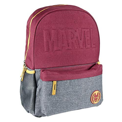 Cerdá - Mochila Escolar Instituto Iron Man de Color Rojo - Mochila de 44 cm | Licencia Oficial Marvel Studios