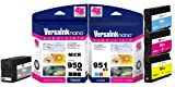 VersaInk-Nano HP 950 MX Black MICR Ink Cartridge for Check Printing & 951 CX...
