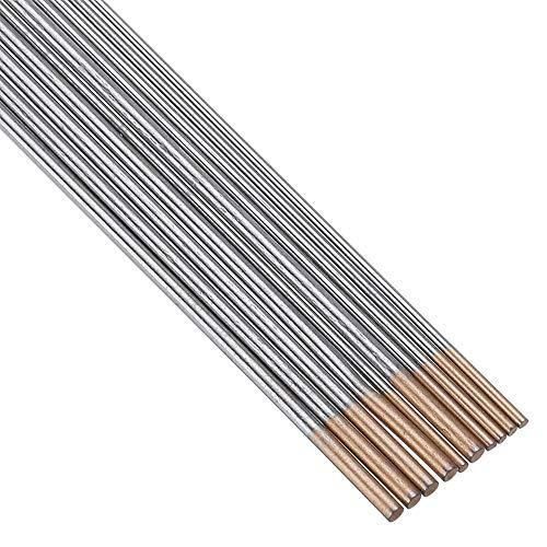 ExcLent 10Pcs Wl15 150Mm Longitud Tig Electrodos De Soldadura De Tungsteno 1.0/1.6Mm Conjunto De Varillas De Punta Dorada