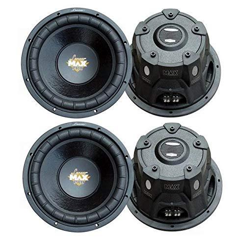 """LANZAR PRO MAXP84 8"""" 3200W Car Audio Subs SVC 4 Ohm Power Subwoofers (4 Pack)"""