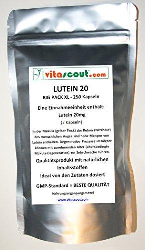 Lutein 20-250 Kapseln á 10mg - für über 4 Monate - BESTE PREIS-/LEISTUNG - PN: 10248