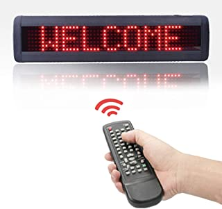 HIDLY Programmable Scrolling LED Message Sign High Resolution Programmable LED Business Light Sign DMP LED Bar Sign with Remote and Password Protection (17x4 inches)