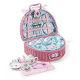 Lucy Locket Märchen Picknickkorb und Teeservice für Kinder (32 Stck. Spielgeschirr Set) Pink