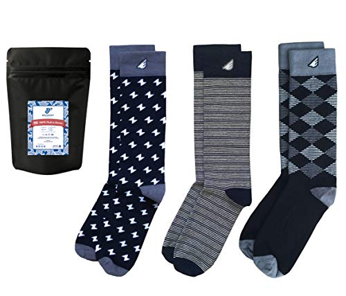 Premium Quality Pack Colorful Fun Patterned Mens Dress Socks