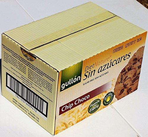 Gullon Choc Chip Kekse Ohne Zuckerzusatz 125 gr. (Packung mit 12)