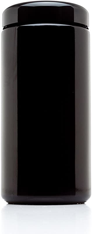Infinity Jars 500 Ml 17 Fl Oz Tall Large Black Ultraviolet Glass Wide Mouth Screw Top Jar