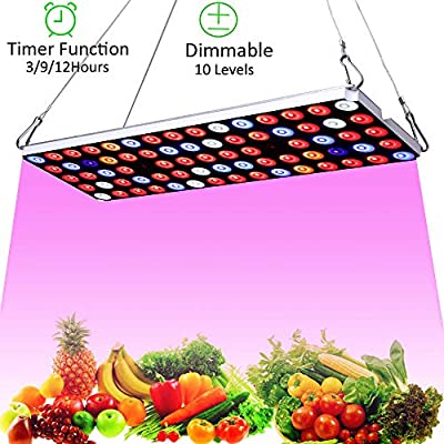 JCBritw LED Grow Light Full Spectrum with UV IR Plant Growing Lamp for Indoor Plant Hydroponics Greenhouse Seedling,Veg and Flower