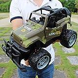 XSLY 01:14 eléctrico RC camuflaje Jeep Off-road de carreras de coches de control remoto escalada al aire libre Vehículo de juguete de carreras de camiones Modelo de alta velocidad for la muchacha de l