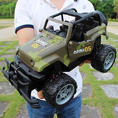 XSLY 1.14 Elektrischer RC Tarnung Jeep Off-Road Racing Car-Fernbedienung Outdoor-Klettern Autorennen Modell High-Speed-LKW-Träger-Spielzeug for Jungen-Mädchen