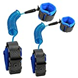 Child Safety Leash for Walking | Toddler Wrist & Hand Leash for Baby & Kids - Upgraded Version with Lock- 2Pack (Blue, 4.9ft + 8.2ft)