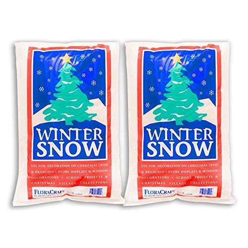 FloraCraft, 4 Liters, Plastic Snow (Pack of 2)