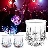 Bicchieri da vino a LED, creativi, a forma di ananas, a forma di ananas, colore arcobaleno, luce lampeggiante luminosa, tazza di vetro per vino, birra, whisky, cocktail