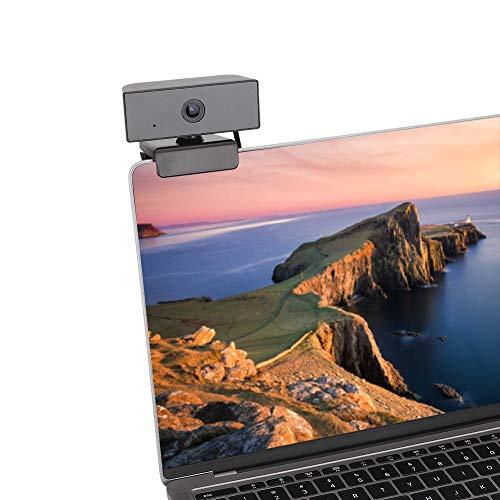 Cámara Web,Full HD Webcam,USB Cámara Web con HD Lente óptica, Cámara para Computadora Portátil para Conferencias y Videollamadas,Plug and Play