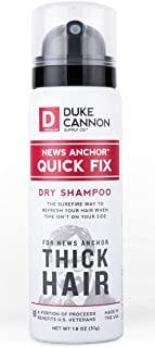 Duke Cannon News Anchor Quick Fix Dry Shampoo for Men Travel Sized 1.8 Ounce