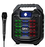 JYX Portable Karaoke Machine PA Speaker Anti-Fall with LED Screen for Kids and Adults, Support Recording/Karaoke/FM Radio/USB/TF Card for Indoor Celebrate and Outdoor Party