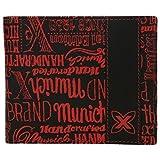 Cartera de piel con portamonedas para Hombre Rojo - Munich Board