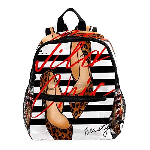 School Backpack Leopard High Heels Design Best Toddler Backpack for Girls Boys