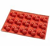 Vancgoods 15 cavité triskell mini forme de bonbons au chocolat moule en silicone Bac à glaçons Résine...