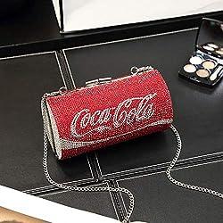 Red Diamond Large Rhinestone Chain Coke Clutch