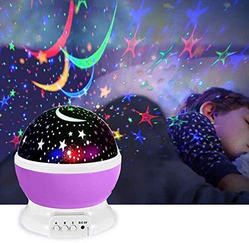 Proyector de estrellas, galaxia nocturna, luz cálida, mesita de noche, decoración, fiesta