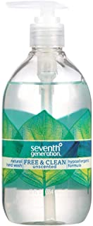 Seventh Generation Natural Hand Wash, Free & Clean 12 Fl Oz (354 Ml) Pack of 2