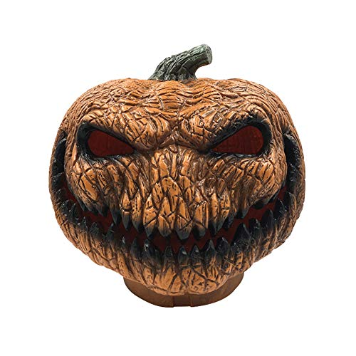 TankMR Halloween Kürbis Flammenlose LED Laterne Lampe Teelicht, Realistische Helle Flackernde Birne Batteriebetrieben, Halloween Dekor Orange Schwarz