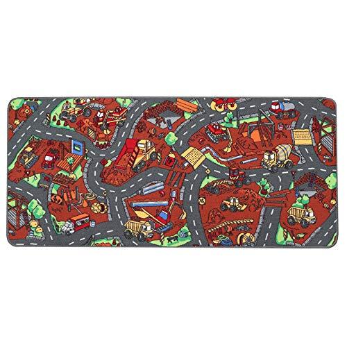 Tapis de Jeu Enfant Chantier 0,95m x 2,00m, Tapis de Jeux   Tapis Circuit Voiture   Tapis de Sol Enfant de Haute Qualité