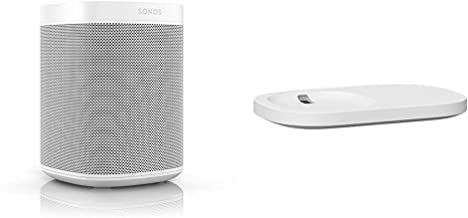 All-New Sonos One with Shelf. The Smart Speaker for Music Lovers with Amazon Alexa built-in for Wireless Music Streaming a...