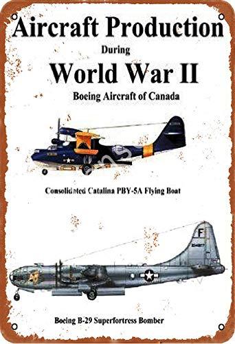 GenericBrands Aircraft Production World War II Pby-Sa B-29 Cartel de Hierro Oxidado...