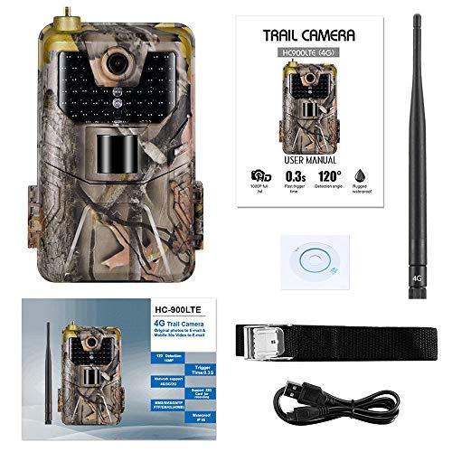 JQIWM 3G Wildkamera Fotofalle Mit Bewegungsmelder Nachtsicht 20MP 1080P Beutekameras 3