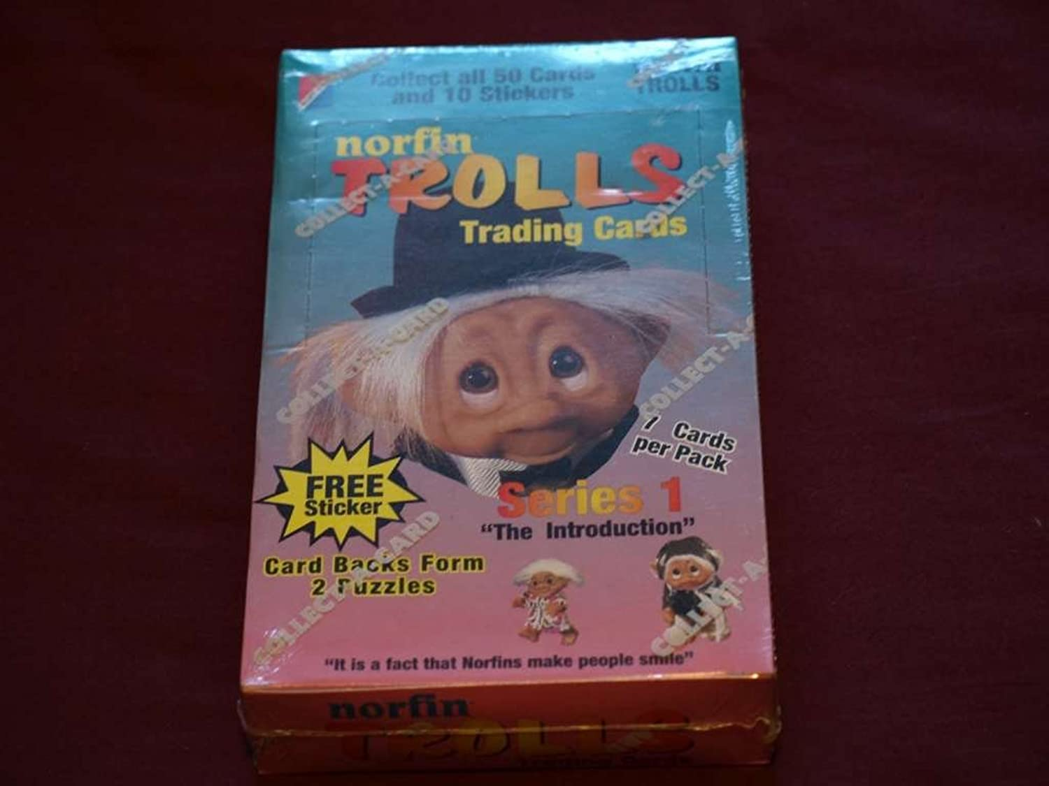 1992 Collect A Card Norfin Trolls Trading Cards Unopened Box