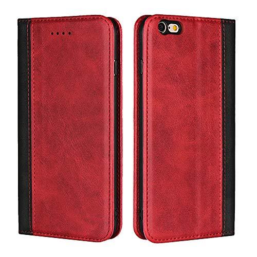 Funda Piel para iPhone 6s Plus / iPhone 6 Plus,Funda Cuero Premium Carcasa Case Soporte Plegable, Ranuras para Tarjetas y Billetes, Estilo Libro, Cierre Magnético para iPhone 6s Plus / iPhone 6 Plus
