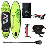 Aqua Marina Sup Board Stand Up Paddle AQUAMARINA Breeze 2019 Paquete completo 275 x 76 x 12 cm con asiento de kayak