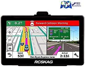 GPS Navigation for Car, Rcskag 7 inch 8GB-256MB GPS Navigation System, Spoken Turn- to-Turn Traffic Alert Vehicle Car GPS Navigator, Lifetime Free Map Updates